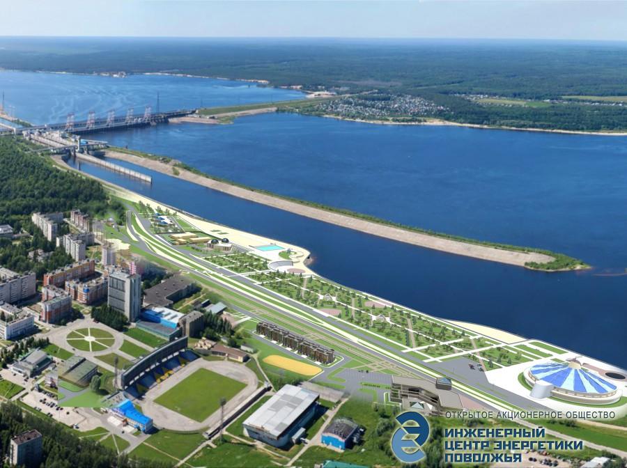 Проект Набережной Новочебоксарск
