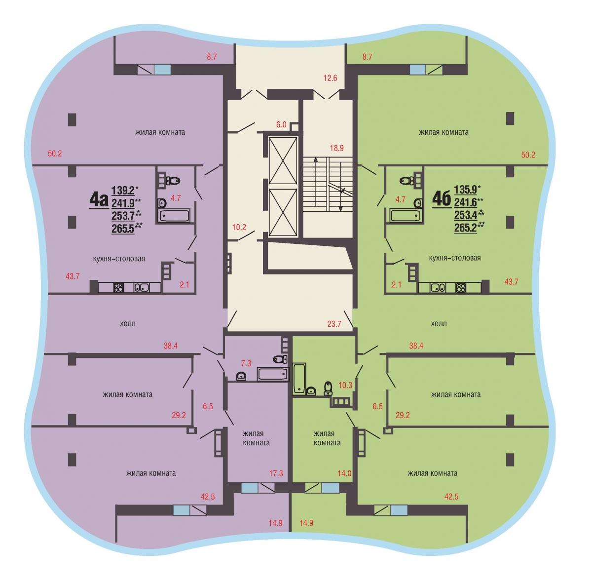 17 -21 этаж
