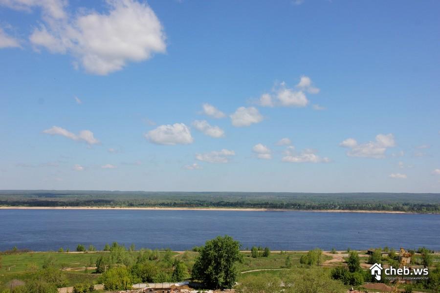Вид на Волгу со стороны ЖК Речной бульвар Новочебоксарск