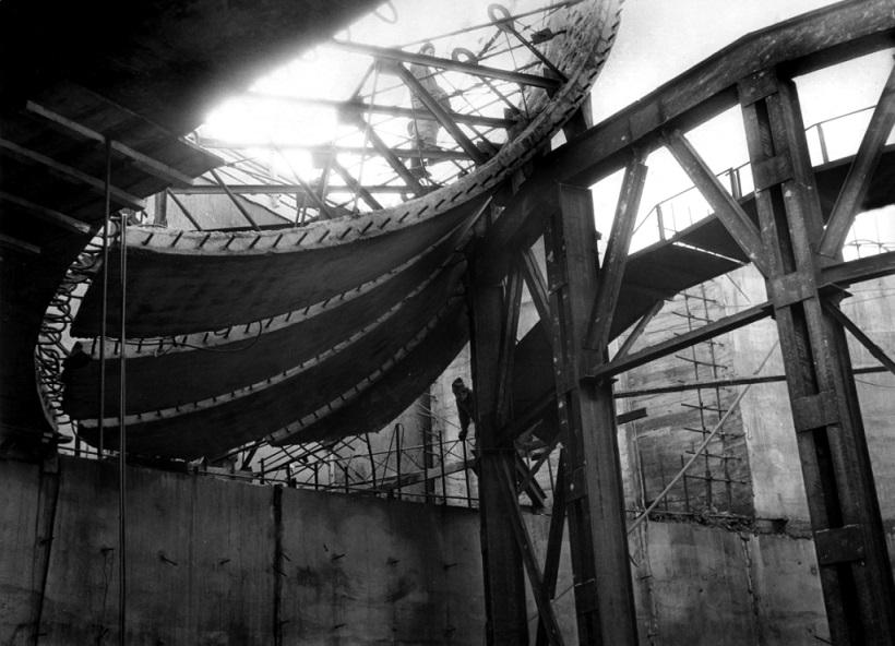 Монтаж железобетонных конструкций. 1970-е